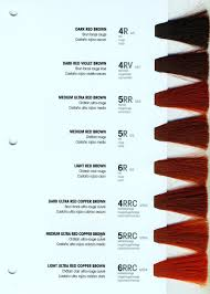 Auburn Hair Red Hair Color Chart