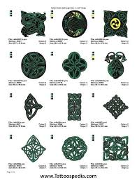 Celtic Symbol Chart Celtic Knot Symbols And Meanings Chart In Celtic Knots And