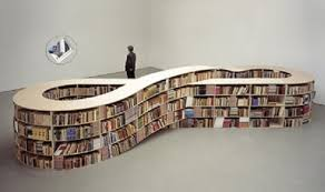 Unique Floating Bookcase On White Wall Color Furniture Cool Contemporary.  home decor websites. home ...