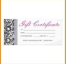 Salon Gift Certificate Elegant Free Business Gift Certificate