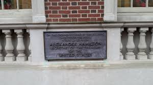 alexander hamilton in philadelphia the constitutional walking plaque commemorating location of alexander hamilton residence in philadelphia