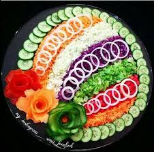 How To Decorate Salad Tray Caroline Cloud Украшение блюд Pinterest Cloud Food art and Salad 94