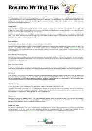 ... Tips On Writing Resume 1 ...