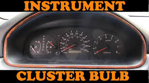 Toyota Instrument Cluster Bulb Replacement - YouTube