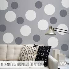 white polka dot wall decals big polka dot wall decals and wall stickers for dorm or
