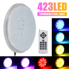 Multi Color Pool Light Us 54 98 46 Off Led Swimming Pool Light 423leds Ac Dc12v Rgb Resin Replacement Par56 Lamp Waterproof Ip68 Multi Color Ip68 Underwater Lights On