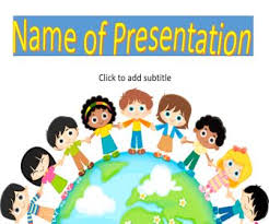 Children Ppt Templates Multicultural Kids Around The World Powerpoint Templates