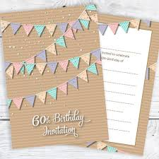 Custom 60th Birthday Invitations Party Good Places For Parties Games