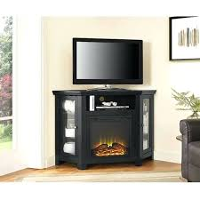 black fireplace tv stand menards