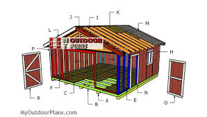 20x20 gable shed roof plans