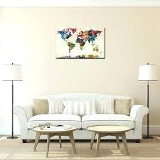 Colorful Living Room Awesome World Map Wall Art Framed Prints For Living Room On Canvas Colorful