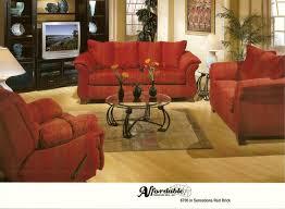 affordable furniture sensations red brick sofa. 6700 Sensations Red Brick Affordable Furniture Sofa
