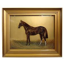 a very unusual late 19th century reverse glass oil painting for
