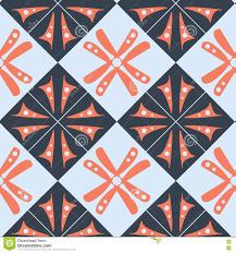Purper Oranje Blauw Behang Abstract Patroon Met Vierkanten En