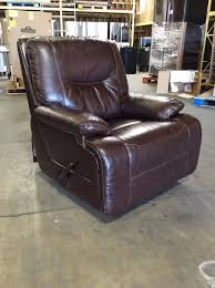 simon li huntington top grain leather glider recliner