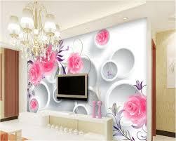 Us 220 Beibehang Rose Weinberg 3d Mode Premium Tapeten Hohe Qualität Runde Tv Schlafzimmer Hintergrund Wand Papel De Parede 3d Wallpaper In