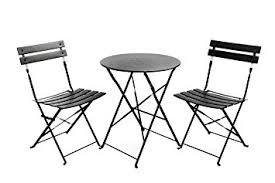 Amazoncom  Finnhomy Slatted 3 Piece Outdoor Patio Furniture Sets Bistro Furniture Outdoor