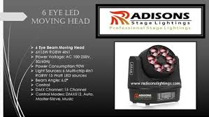 Sharpy Dmx Chart Moving Head Lights 6 Eye Led Moving Head Manufacturer From