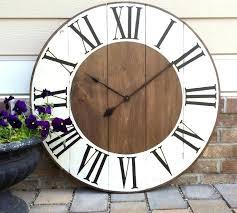 distressed wood wall clock oversized white clocks large wooden extra decorative circle black distre distressed wooden wall clocks