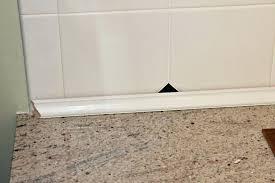 kitchen countertop trim kitchen update goodbye tile