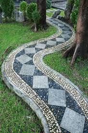 Small Picture Best 20 Mosaic walkway ideas on Pinterest Stone work Pebble