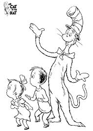 Small Picture Cat In The Hat Hat Coloring Page Cat In The Hat Coloring Pages