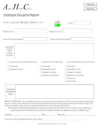 Disciplinary Forms For Employees Free Employee Disciplinary Action Form Employment Delighted Discipline
