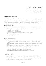 Nanny Resume Template New Nanny Cv Template Download Examples Of Resumes Resume Sample Samples