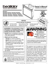 heatilator gas fireplace ndv4236i manuals