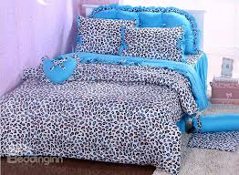 stylish unique blue leopard print 4 piece bedding setsduvet cover sets animal print bedding sets remodel