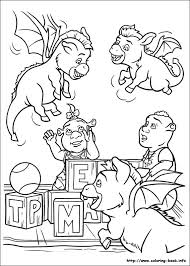 Small Picture Shrek Forever After Coloring Pages Coloring Coloring Pages