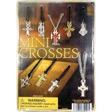 cross necklaces collection in bulk bag 100 pcs