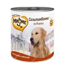 <b>Консервы Мнямс</b> для собак <b>Сальтимбокка по-Римски</b> (телятина с ...