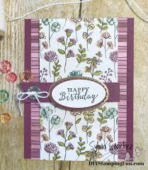 Folded Birthday Card Wednesday Wow Fun Fold Birthday Card Diy Stamping Fun