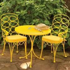 Image Love Seat Would Be So Cute In The Middle Of The Veggieflower Garden Iron Patio Furniture Pinterest 51 Best Yellow Patio Furniture Images Garten Gardens Lawn Furniture