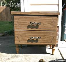 laminate furniture makeover. striped nightstand makeover strippeddresser laminate furniture r