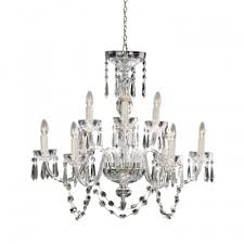 lismore 9 arm chandelier 240v