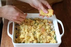 In a food processor, combine the rotini, the potatoes, and the muffins, pulsing until they are granulated. Cornbread Chicken Casserole Vintage Mixer