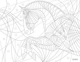 Free Adult Horse Coloring Page The Valley Equestrian News