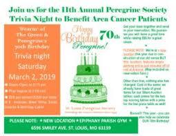 2019 Trivia Night Flyer St Louis Peregrine Societyst