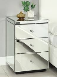 mirrored furniture room ideas. rio crystal mirrored bedside table chest nightstand mirror furniture room ideas