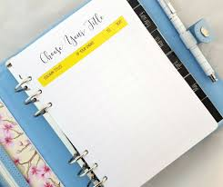 Design Your Own Planner Inserts A5 Create Your Own Inserts