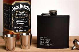 60th birthday gift ideas flask set with shot gles