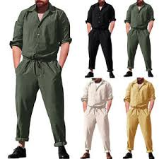 Shirts With Pants Details About New Mens Romper Jumpsuit Plain Playsuits Overalls Long Sleeve Shirts Pants