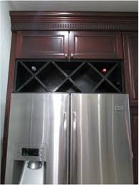 wine rack cabinet above fridge. DIY Wine Rack...so That\u0027s What The Wasted Space Above My Fridge Is Rack Cabinet