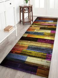 color block striped water absorption floor rug w24 inch l71 inch