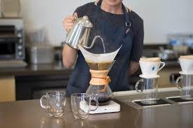 Eating & cooking food › chemex ratio: Blue Bottle Explains Chemex For A Crowd Blue Bottle Coffee Lab