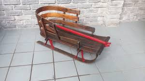 antique vintage toboggan sled