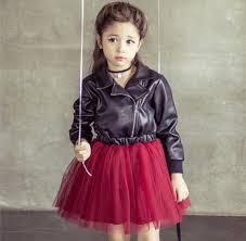 faux leather jacket tutu dress thumbnail 1