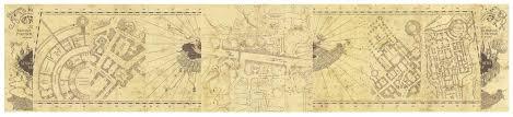 harry potter paraphernalia marauder's map inside and outside